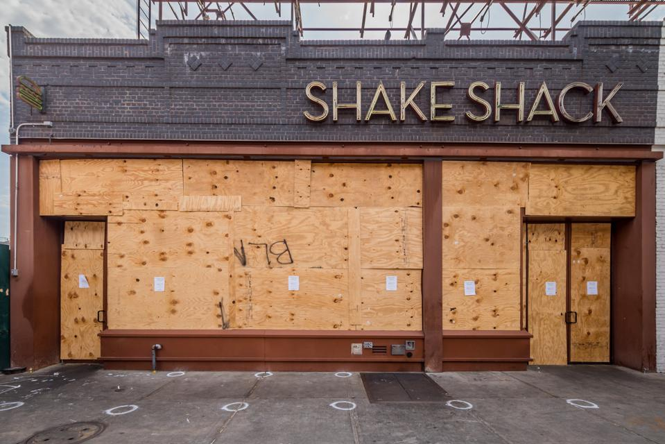 Shake Shack, one of the many storefront businesses boarded...