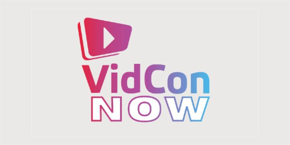 Logo for VidCon Now 2020 conference
