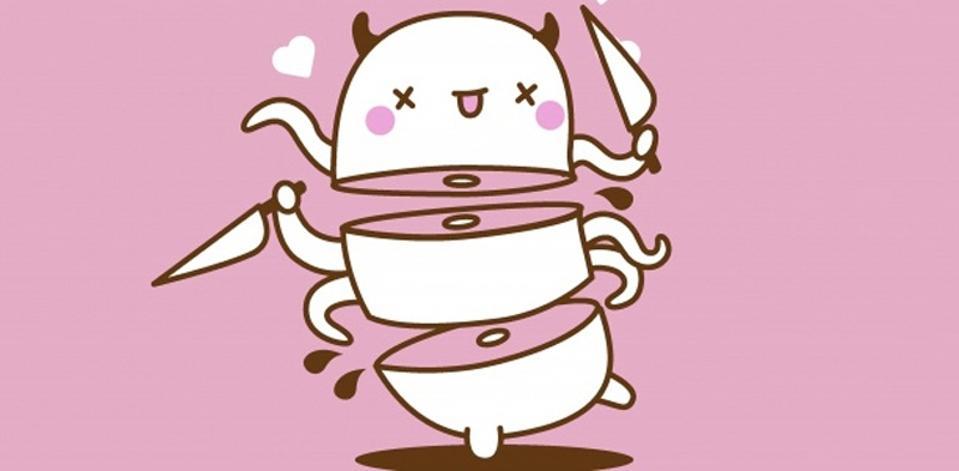 Image of Chingu, the Fantastic Fest mascot