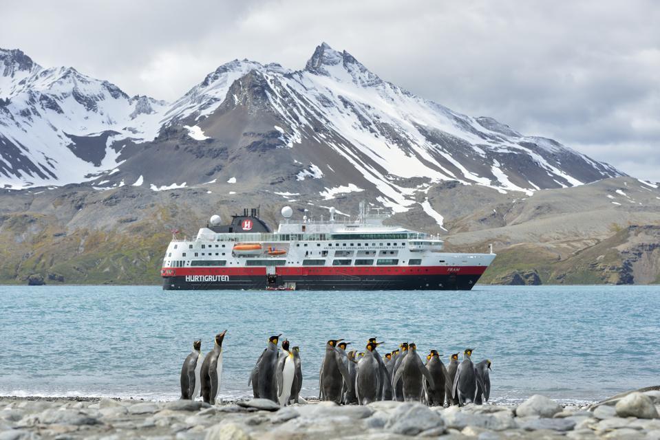 Penguins in Antarctica during a Hurtigruten cruise