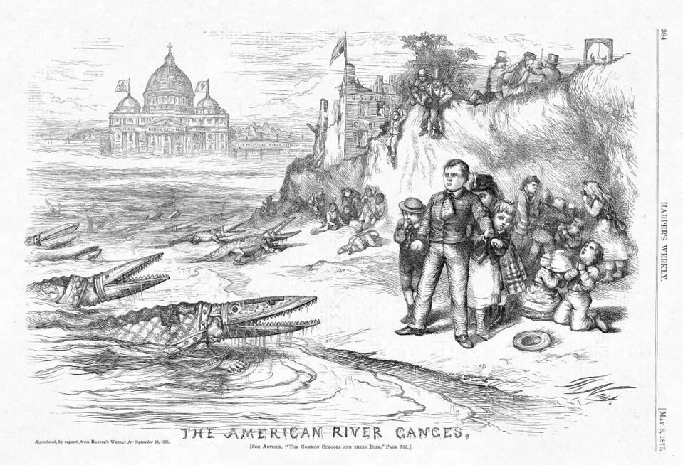 Thomas Nast 'The American River Ganges' (1875)