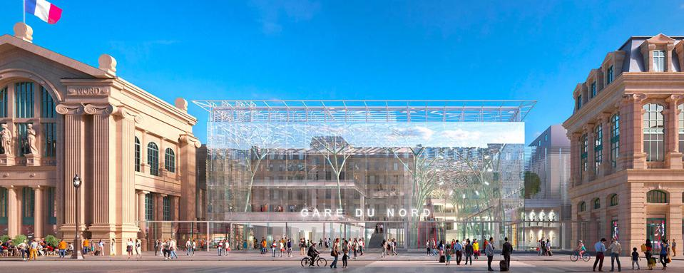 A rendering of the Paris' Gare du Nord following a planned renovation.