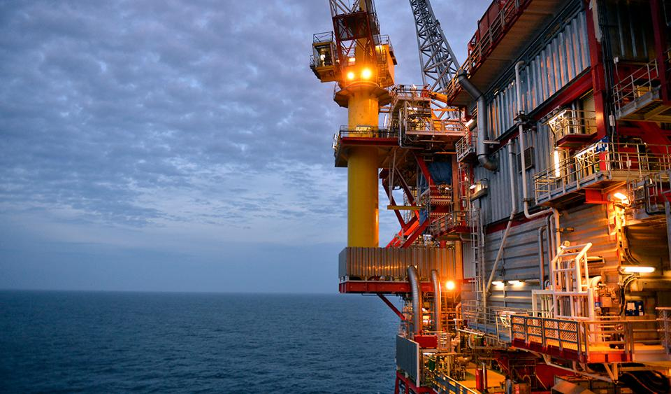 A rig at the Kvitebjørn oil and gas filed in the North Sea