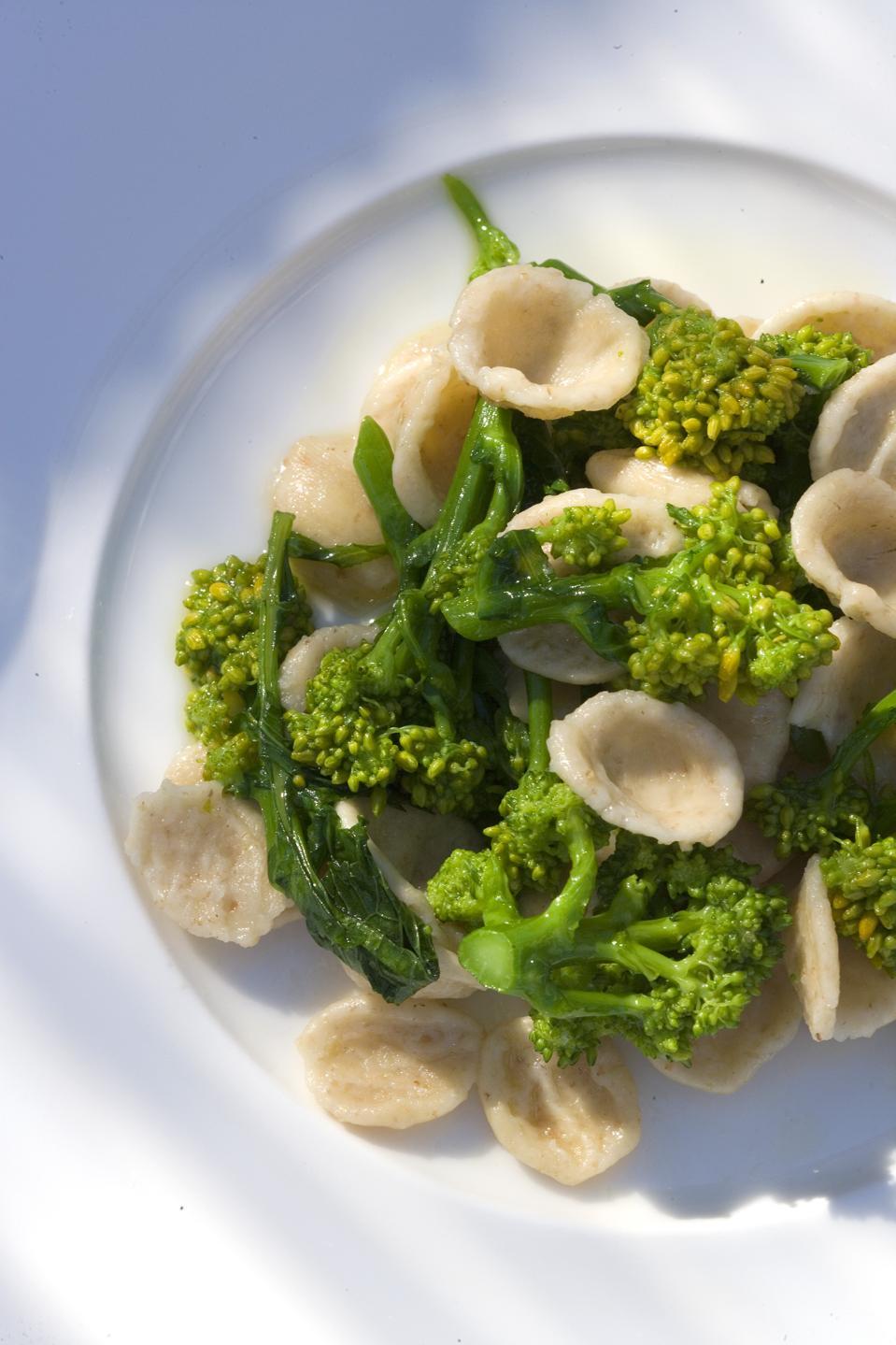 """Orecchiette or """"Small Ear"""" pasta served at Masseria Torre Coccaro Puglia Italy"""