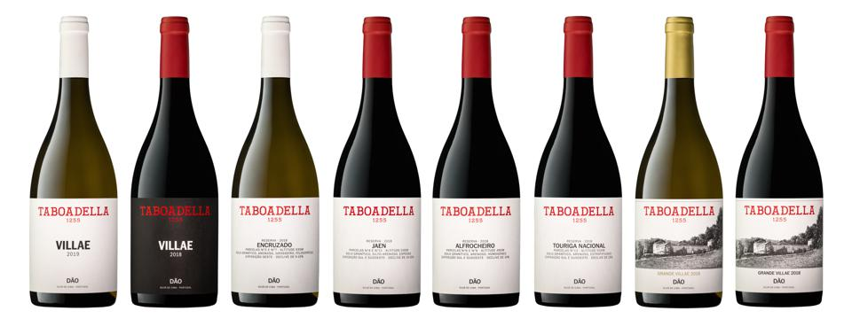 Taboadella wines - 3 whites and 5 reds
