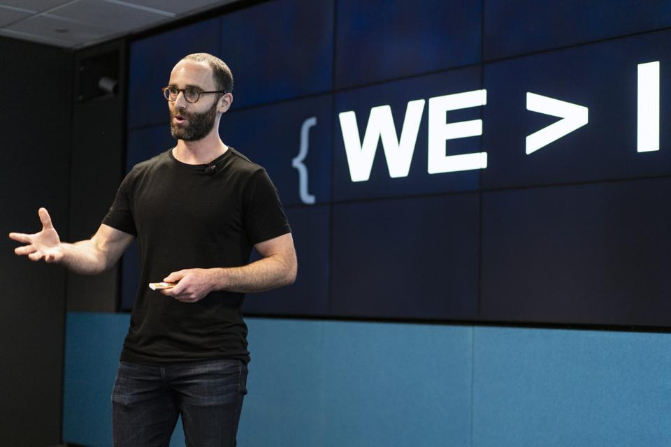 Daniel Epstein giving a talk