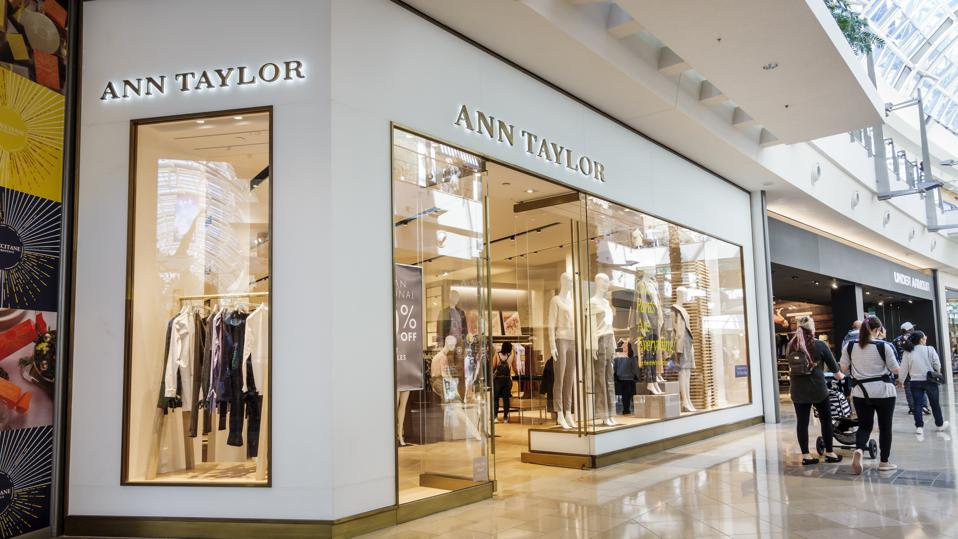 The storefront of the Ann Taylor store at The Mall at Millennia, in Orlando, Fl.