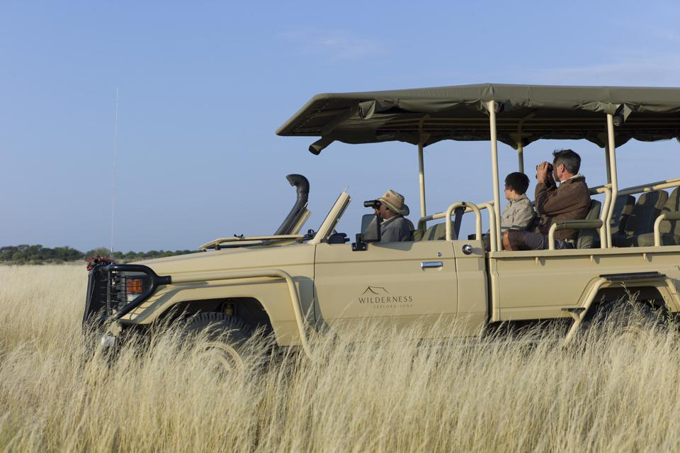 Conservation Africa News - Out on game drive in the Kalahari at the Deception Valley Trails Camp