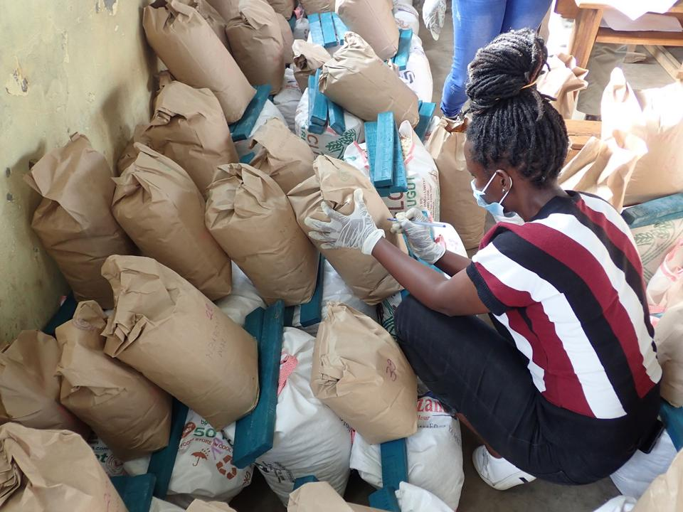 Conservation Africa News - Food parcels being prepared at Bisate