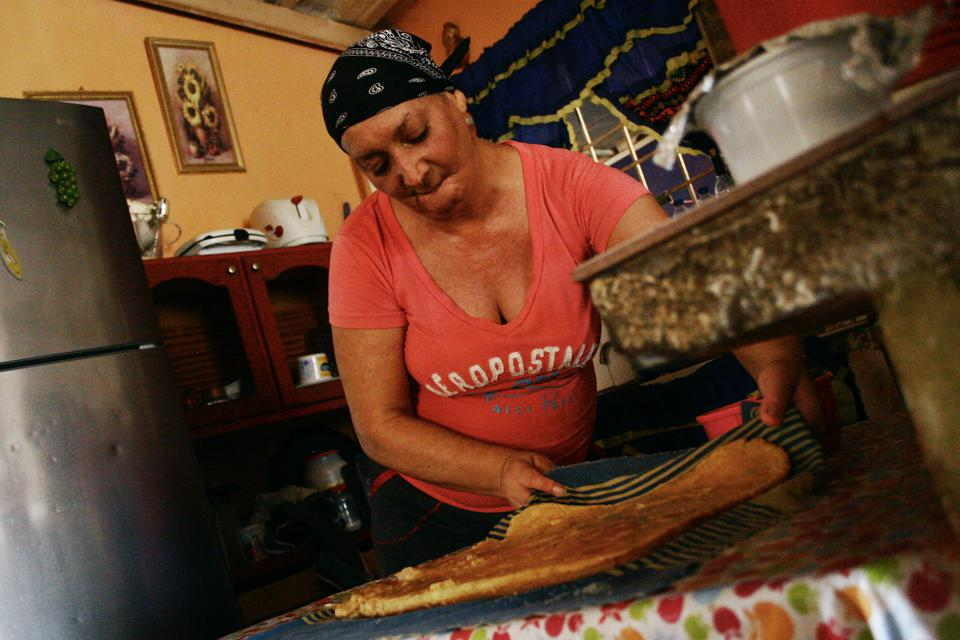 Nairobi Chacon is 45 years old and lives with her 13-year-old son and 80-year-old mother in Maracaibo, Venezuela.