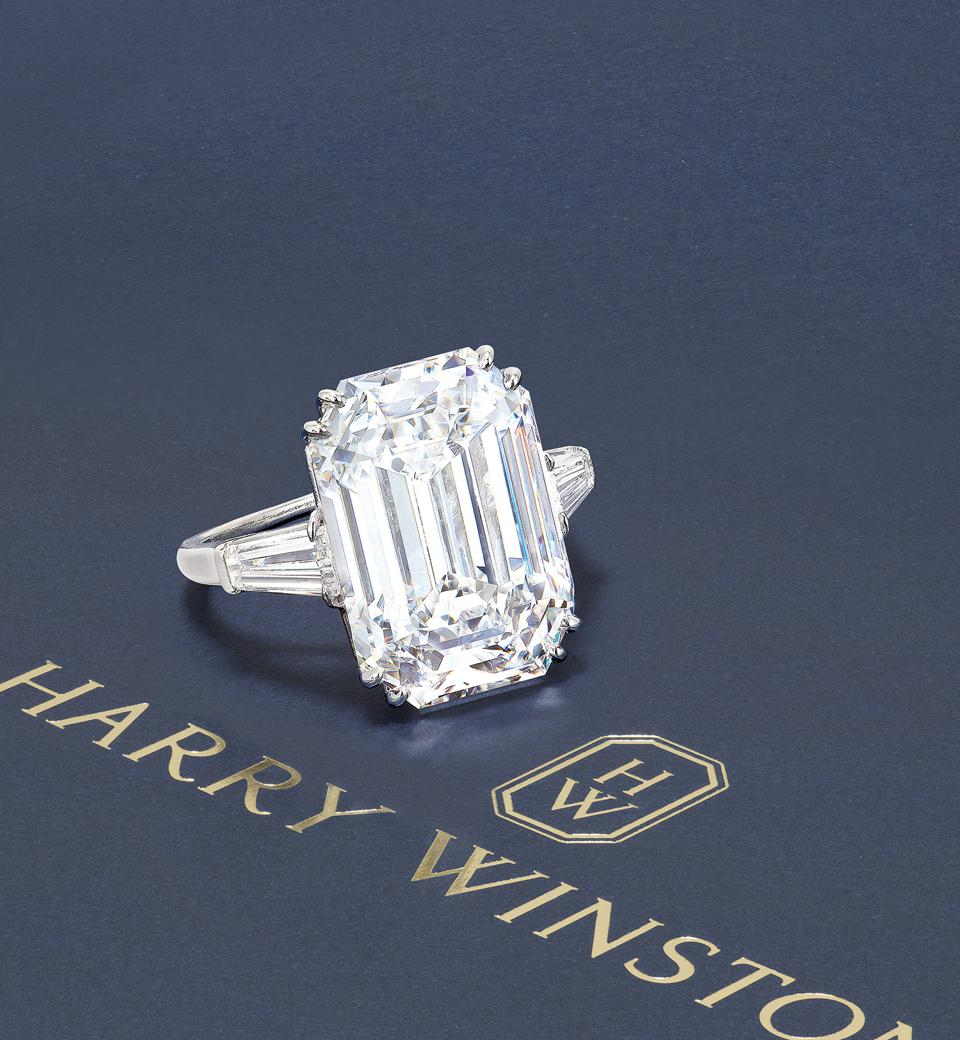 Harry Winston 12.55-carat diamond ring sold for $1.1 million
