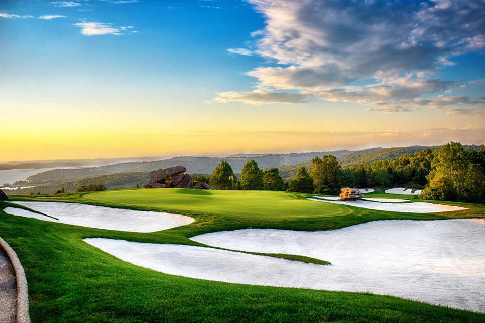 The ninth hole at Top of the Rock Golf Course.