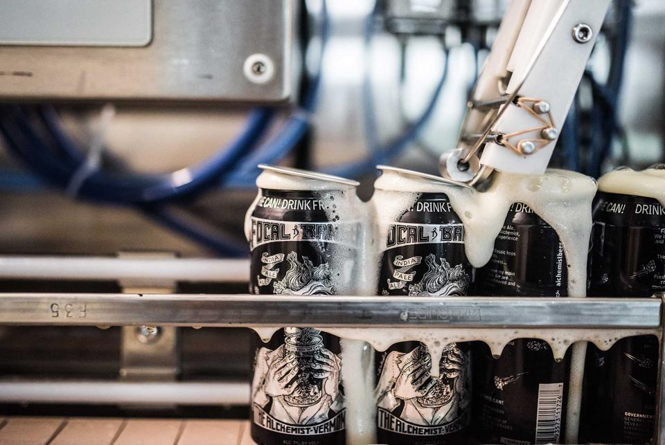 Focal Banger cans at The Alchemist Brewery in Vermont