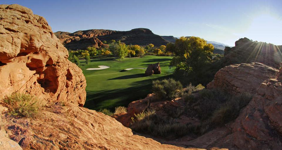 A scenic vista at Dixie Red Hills Golf Course.