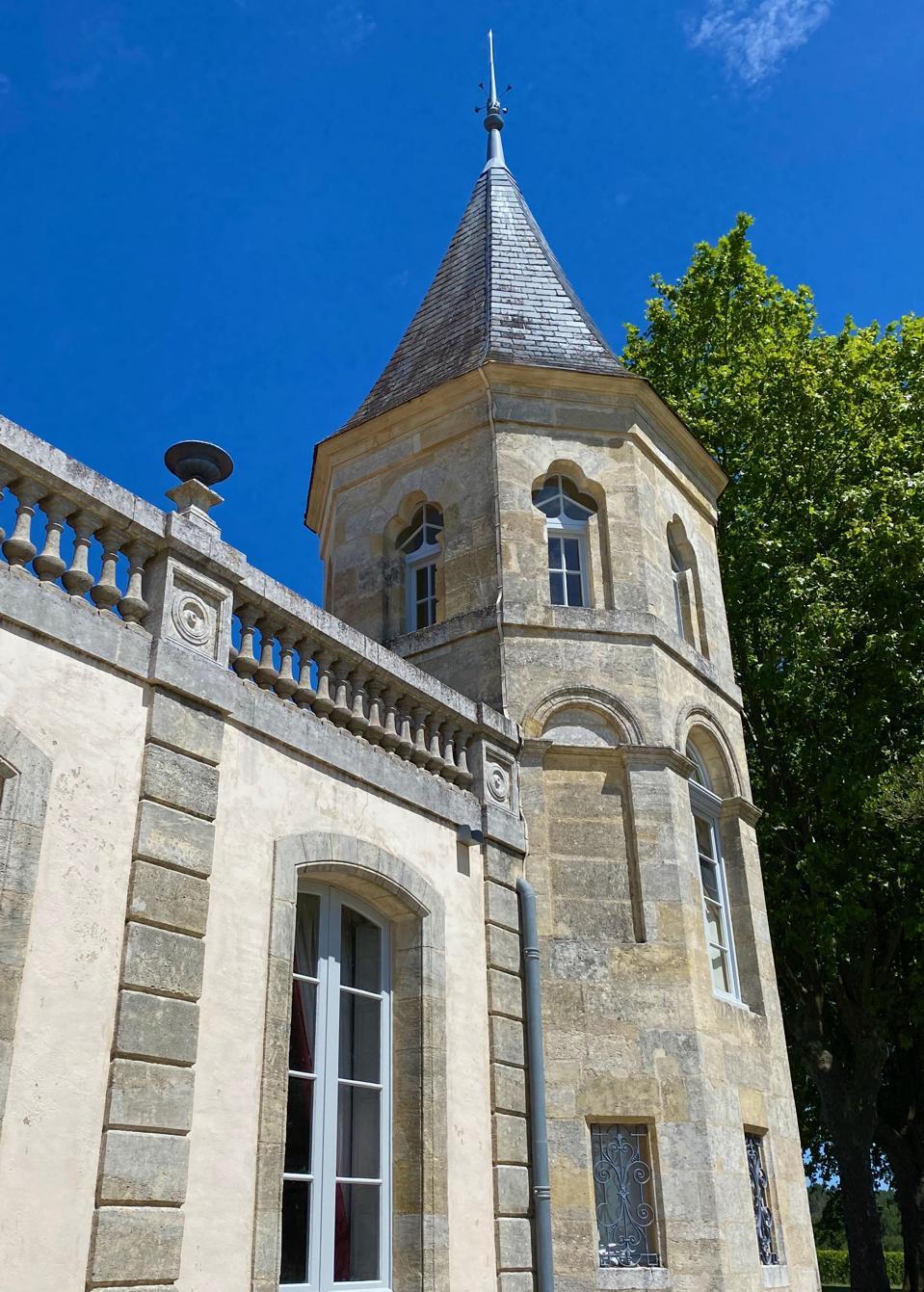 Turreted tower at Château Brande-Bergère