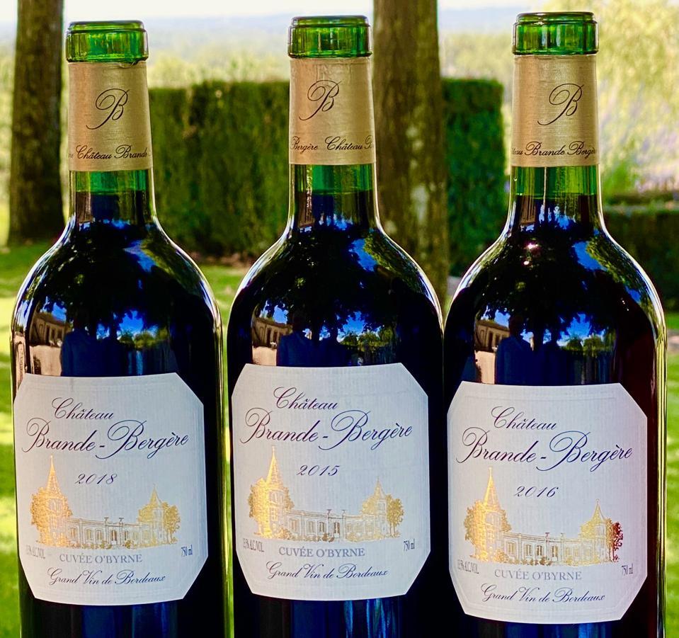 Cuvée O'Byrne vintages 2015, 2016 and 2018