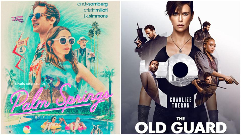 'Palm Springs' and 'The Old Guard' posters