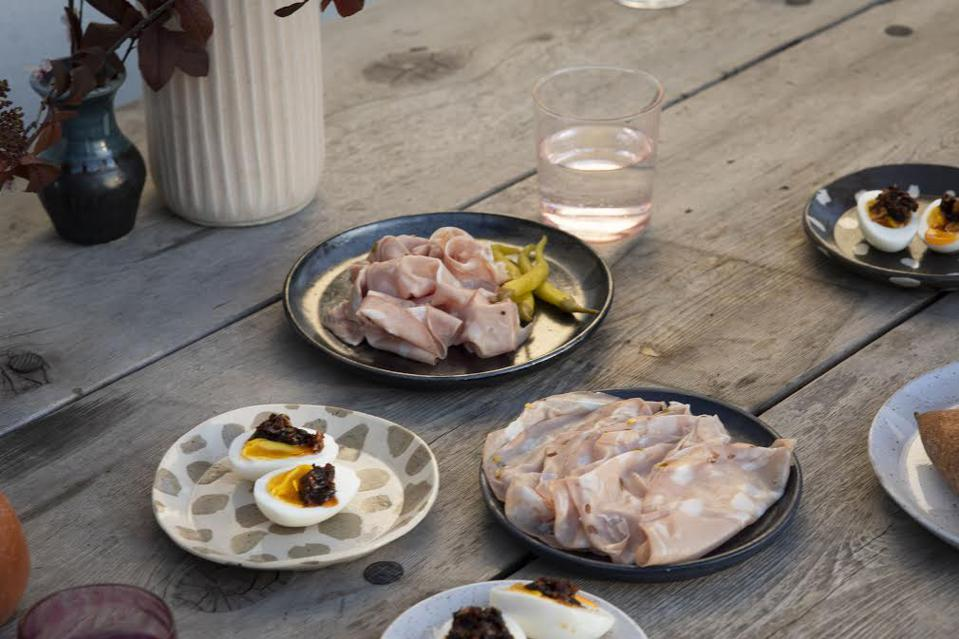 Valley's mortadella and accoutrements