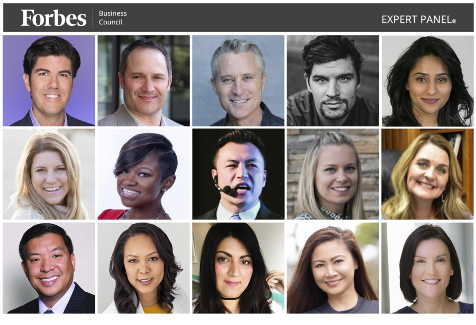 Photos of featured Forbes Business Council members