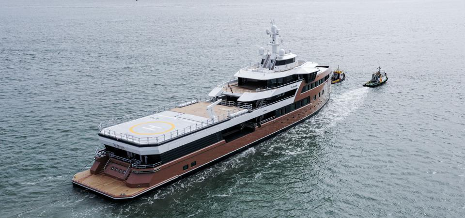 Take note of the massive aft deck on board the brand new Damen Yachting SeaXplorer 77 LA DATCHA.
