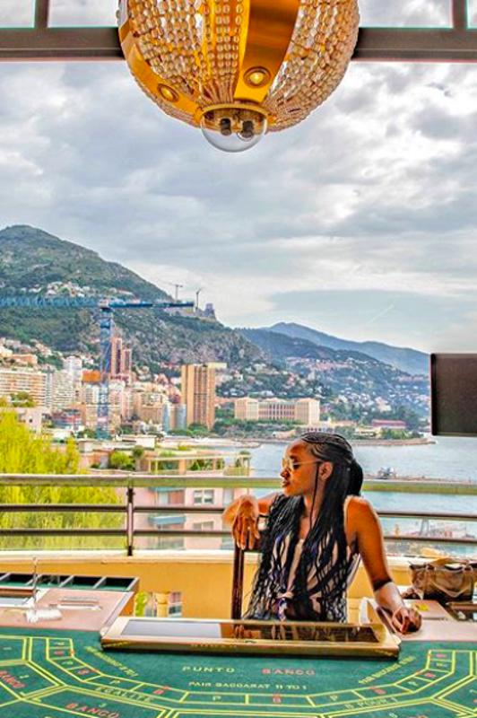 Traveling journalist Dana Givens in Monte Carlo