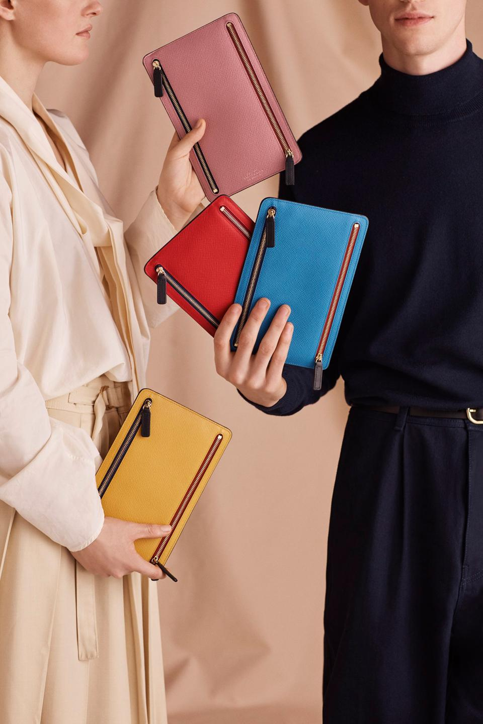 Travel wallets by Smythson