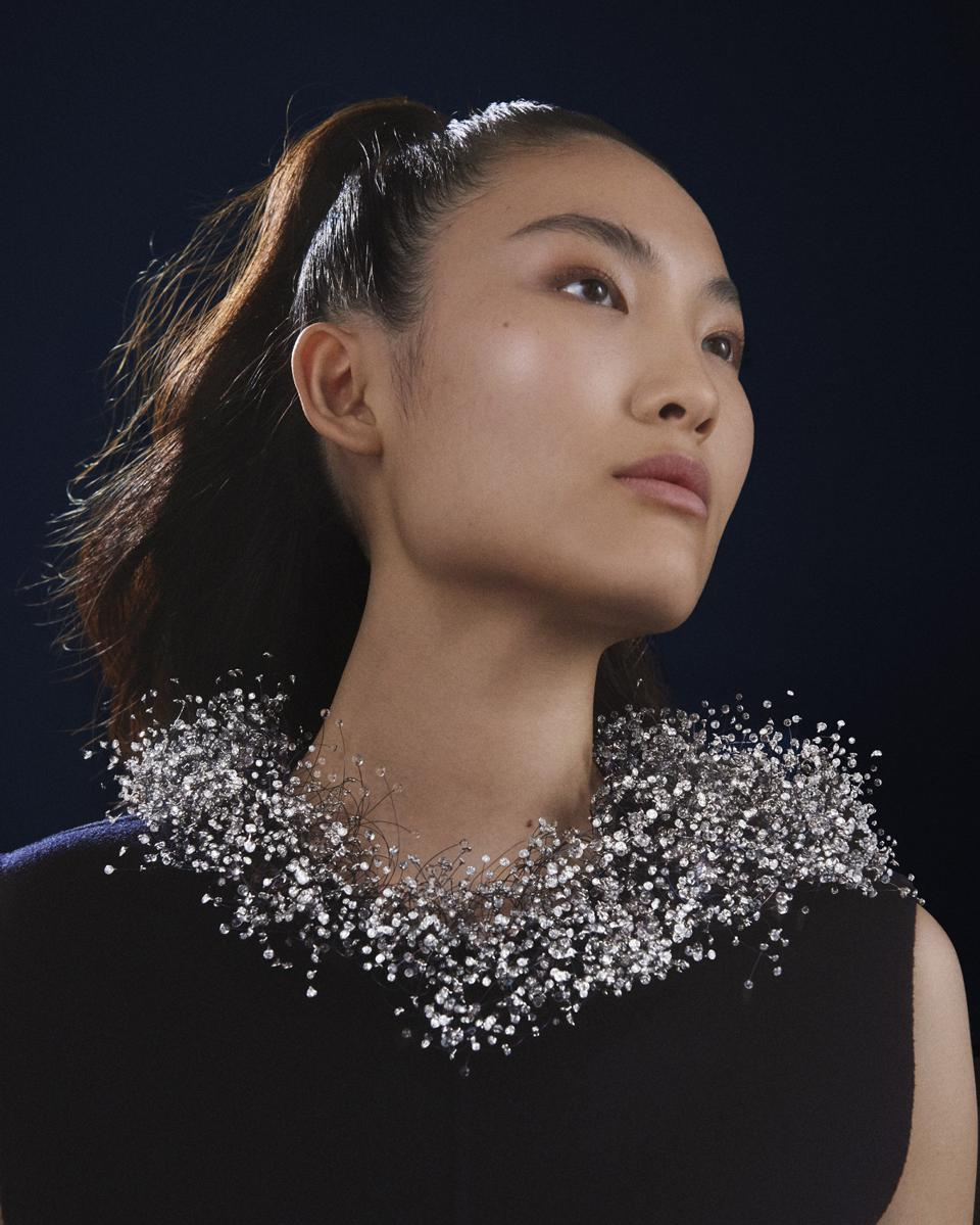 The Boucheron Nuage en Apesanteur (Weightless Cloud) necklace from the Contemplation high jewelry collection