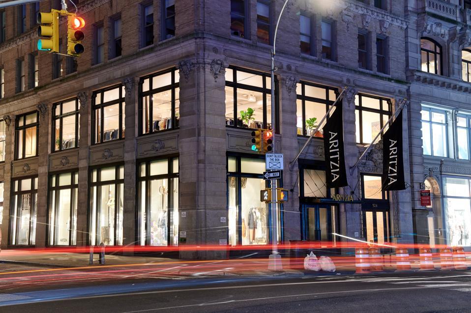 Aritzia's flagship at 524 Broadway in Manhattan's Soho.