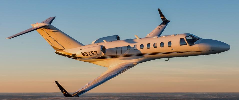 A Cessna CitationJet 3 with Tamarack ATLAS winglets.