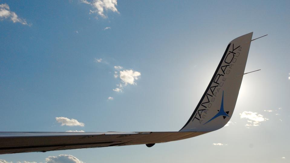 Tamarack's ATLAS winglet on a Cessna CitationJet.