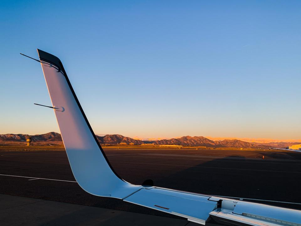 The active load alleviating aileron on Tamarack's CitationJet ATLAS installation.