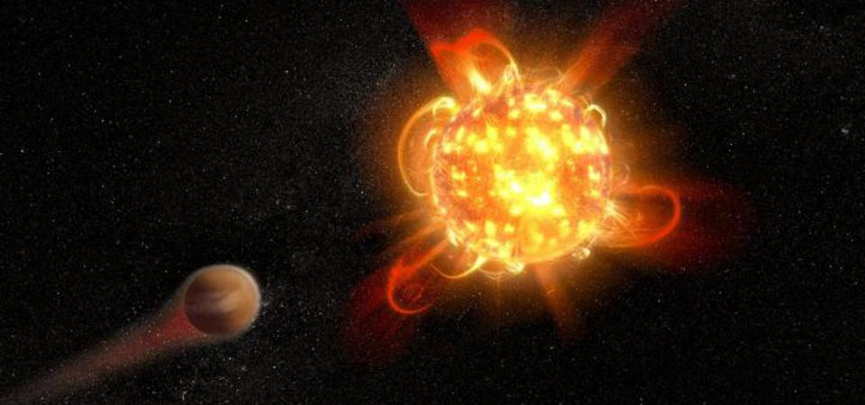 Violent outbursts of seething gas from young red dwarfs may make conditions uninhabitable on fledgling planets