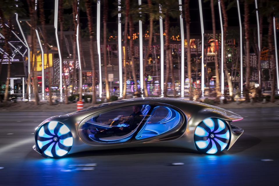 The shape-shifting and highly interactive Vision AVTR show car