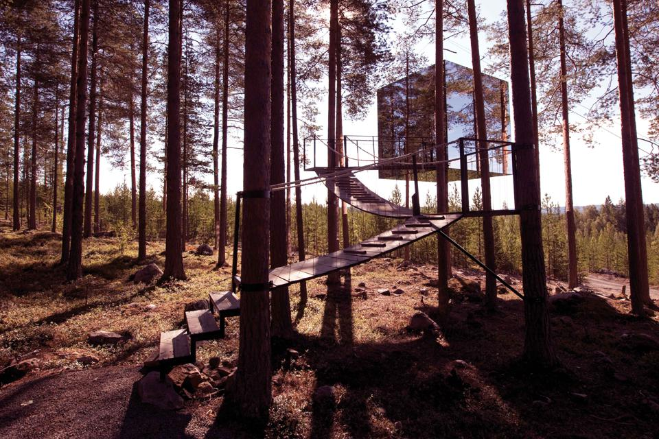 The Mirrorcube, a room at Sweden's Treehotel