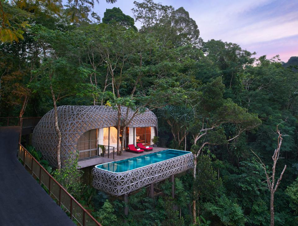 The Bird's Nest Pool Villa, at the Keemala resort in Thailand