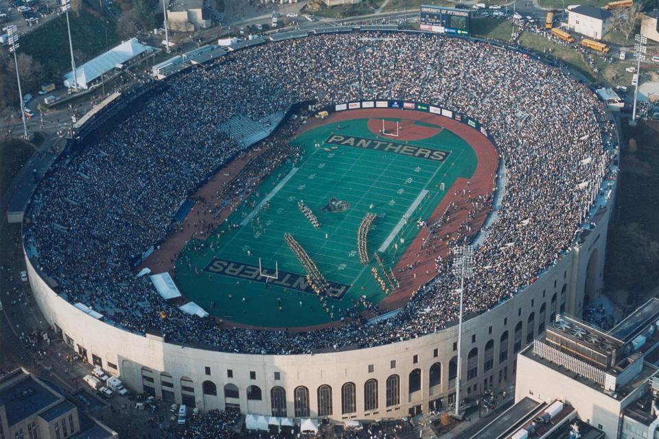 Pitt Stadium was the on-campus venue for Pitt football through 1999.