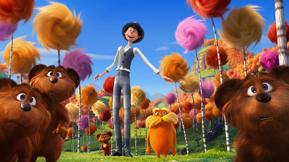 Danny DeVito, Chris Renaud, and Ed Helms in 'The Lorax'
