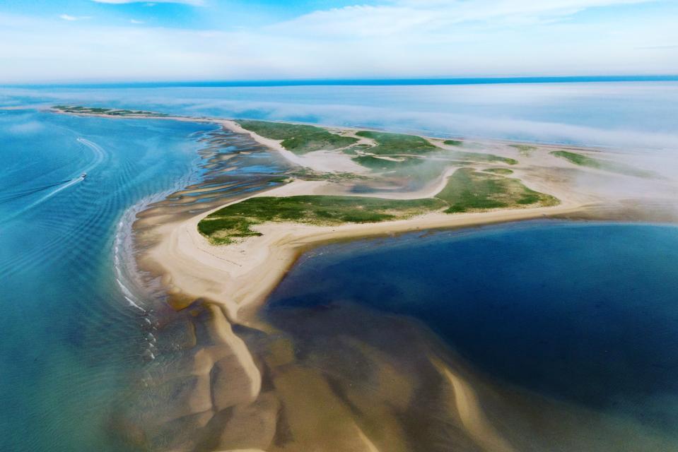 Where Cape Cod curls into the Atlantic.