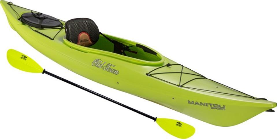 A sit-in kayak.