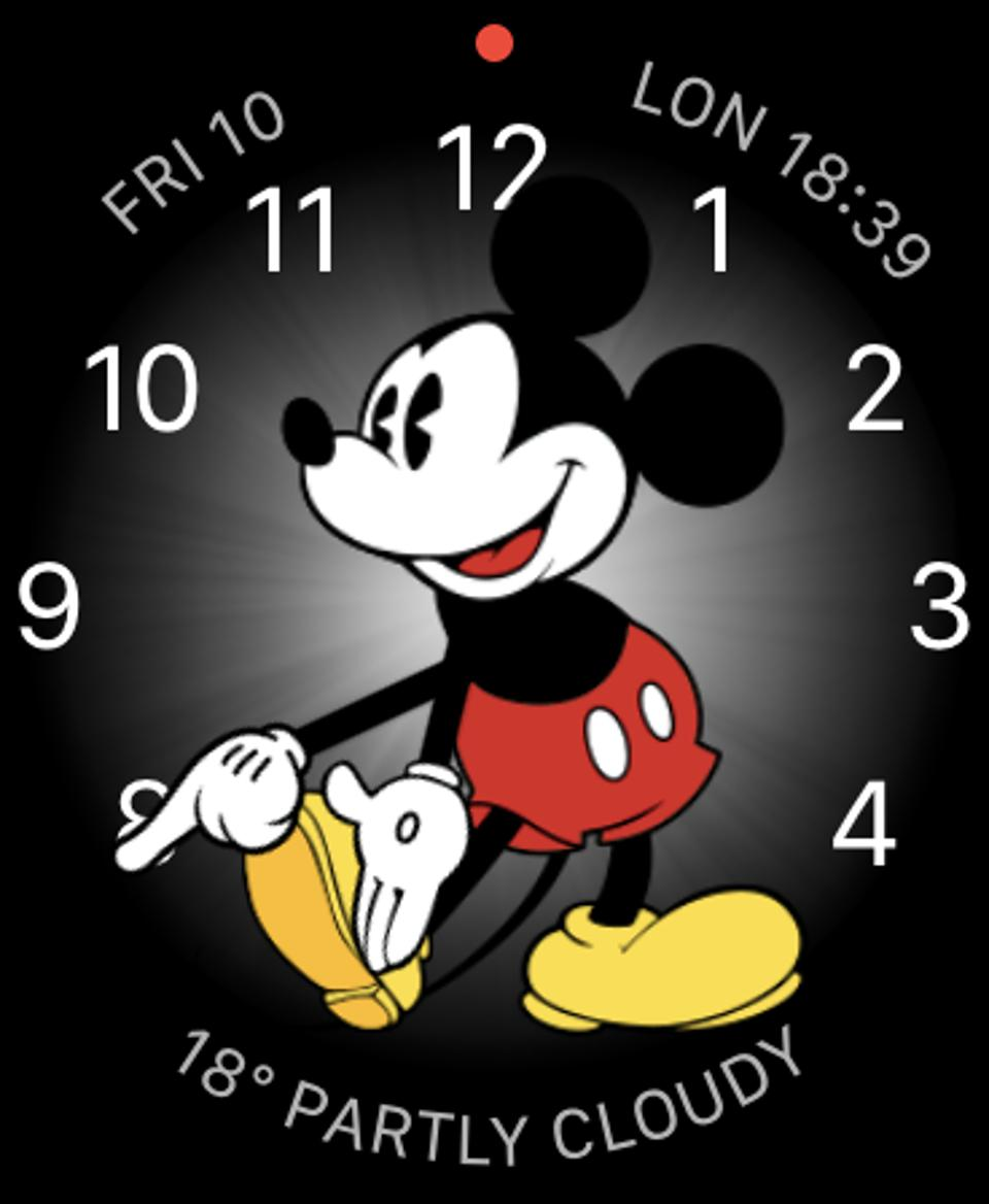 The tremendous Mickey Mouse Apple Watch face