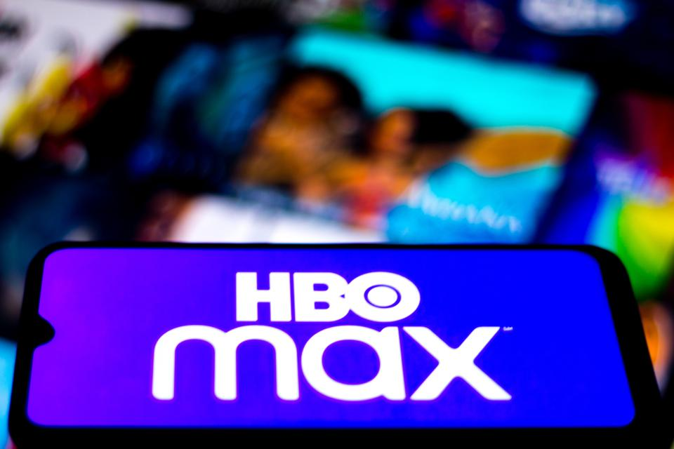 In this photo illustration the HBO Max logo seen displayed...