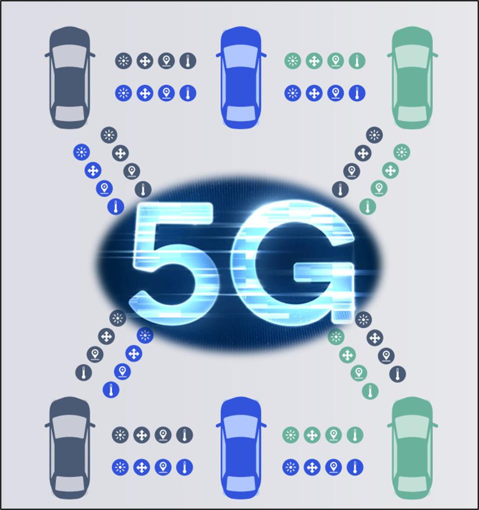Cars communicating to each other over 5G