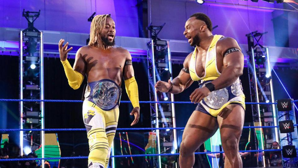 The New Day defended the SmackDown Tag Team Championships against Shinsuke Nakamura and Cesaro.