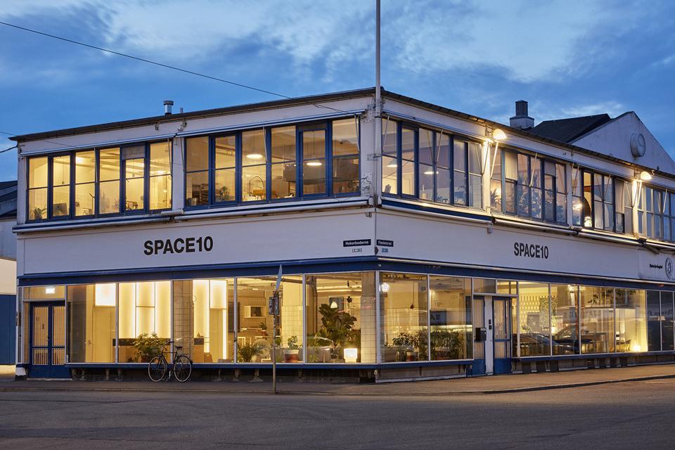 Exterior shot Space10 in Stockholm, Sweden