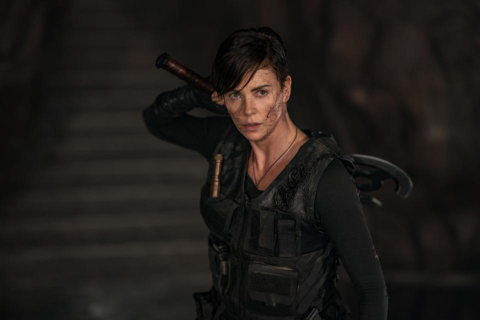 Charlize Theron as Andy in THE OLD GUARD on Netflix