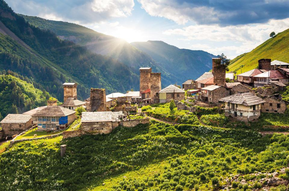Adishi, small village in the mountains of Georgia.
