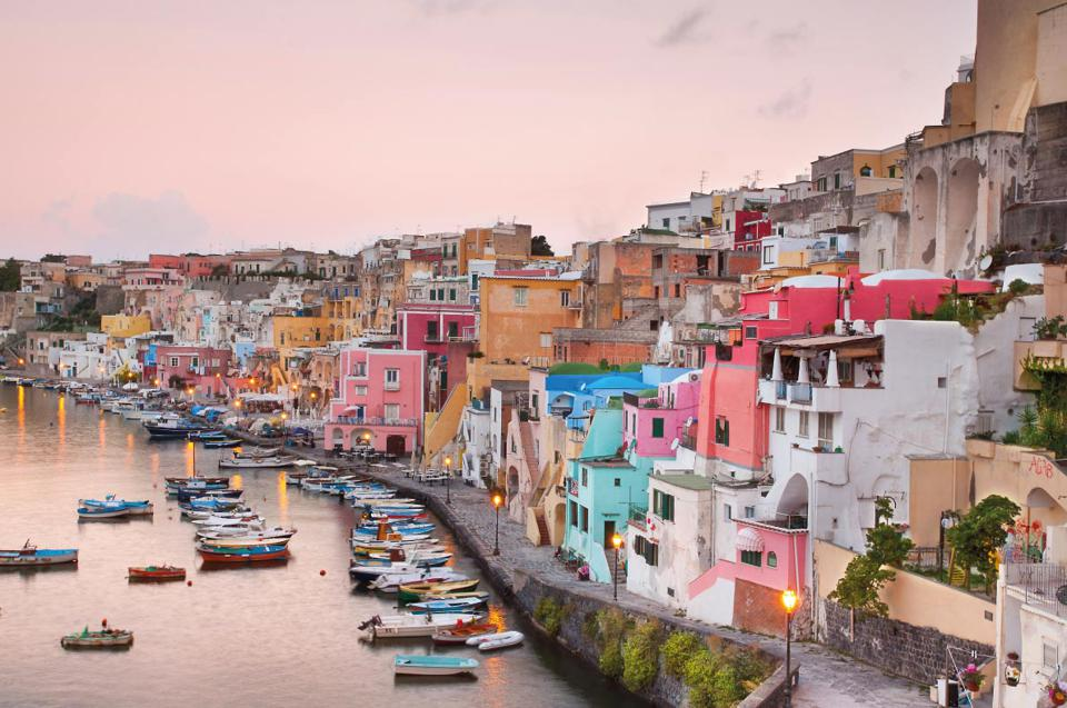 Procida Island Italy, located in the Bay of Naples
