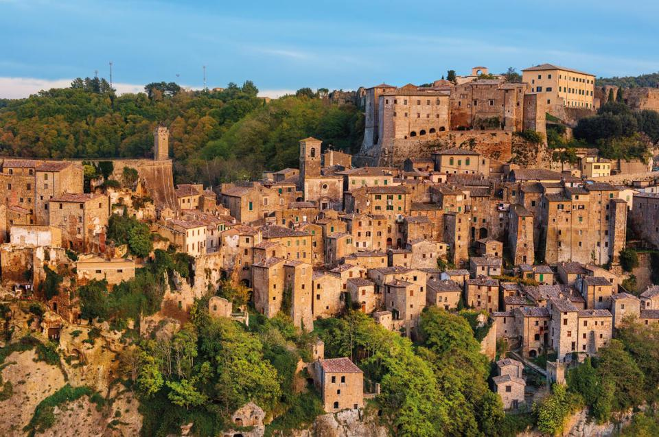 Sorano, a medieval town in southern Tuscany, Italy
