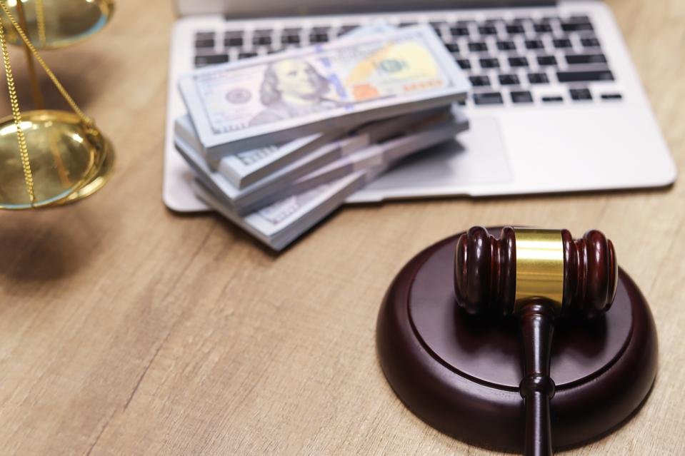 Financial Law concept , Law and Money, Financial Institution Law,corruption