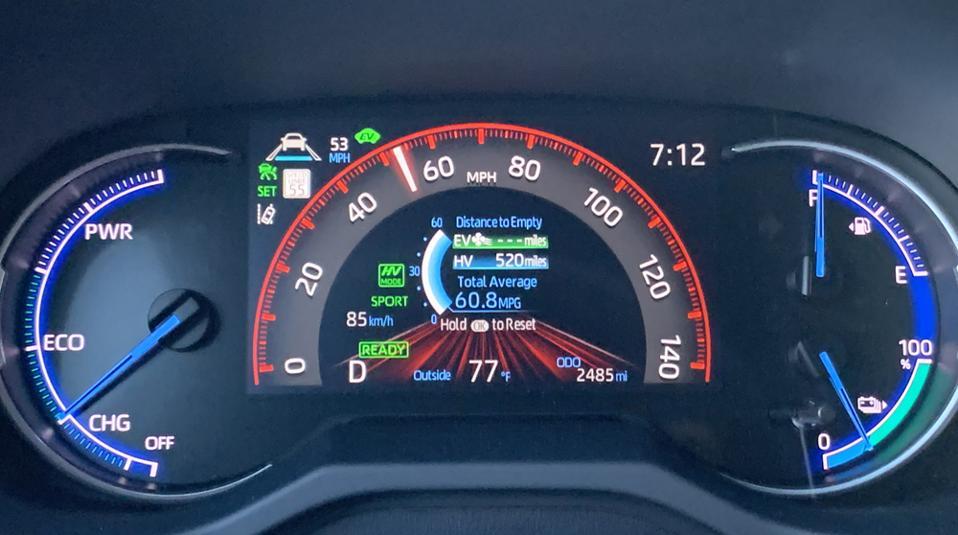 2021 Toyota RAV4 Prime Driver Information Display
